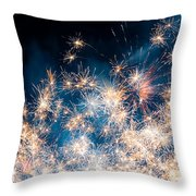 Fireworks In The Sky Throw Pillow by Gianfranco Weiss