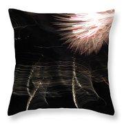 Fireworks Light Trails 11 Throw Pillow