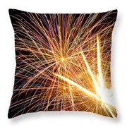 Fireworks Throw Pillow by Lori Seebeck
