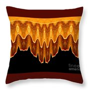 Fireworks Melting Abstract Throw Pillow