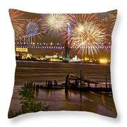 Fireworks On The Ben Throw Pillow