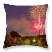 Fireworks Over St Louis Throw Pillow