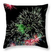 Fireworks Over The Bay Throw Pillow