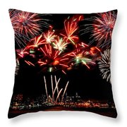 Fireworks Over The Delaware Throw Pillow