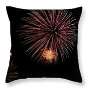 Fireworks Panorama Throw Pillow