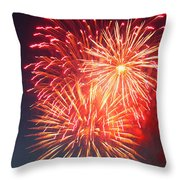 Fireworks Series II Throw Pillow by Suzanne Gaff