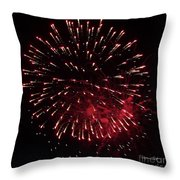 Fireworks Series Ix Throw Pillow by Suzanne Gaff