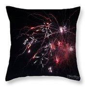 Fireworks Series Xi Throw Pillow by Suzanne Gaff