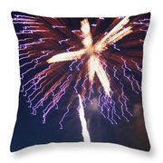 Fireworks Series Xii Throw Pillow by Suzanne Gaff