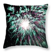 Fireworks Splendor Throw Pillow