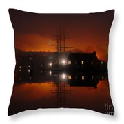 Firey Fog Throw Pillow