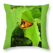 Firey Skipper Butterfly Throw Pillow