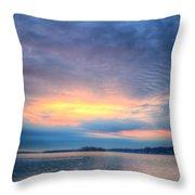 Firey Sunrise Throw Pillow