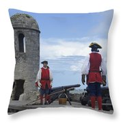 Firing Of The Cannon 4 Throw Pillow