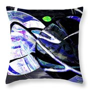 Firmament Cracked #1 Confusing Dark And Light Throw Pillow