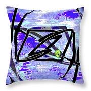Firmament Cracked #4 - Entrapment Throw Pillow by Mathilde Vhargon