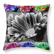 Firmenish Bicolor In All Shades Throw Pillow