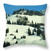 Firs Decoration Winterscape Throw Pillow