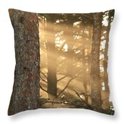 Firs On Fire Throw Pillow