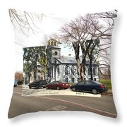 First Baptist Church And Walley School In Bristol Ri Throw Pillow