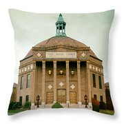 First Baptist Church Of Asheville North Carolina Throw Pillow