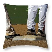 First Base Throw Pillow