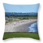 First Beach Newport Ri Throw Pillow