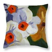 First Blooms Throw Pillow