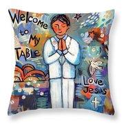 First Communion Boy Throw Pillow