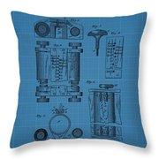 First Computer Blueprint Patent Throw Pillow