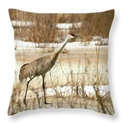 First Crane Throw Pillow