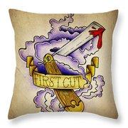 First Cut Throw Pillow