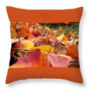 First Day Of Fall Throw Pillow
