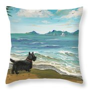First Day Of Vacation Throw Pillow