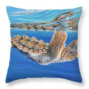 First Dive Throw Pillow