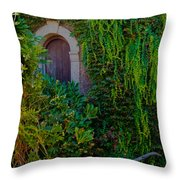 First Door On The Left Throw Pillow by Bill Gallagher