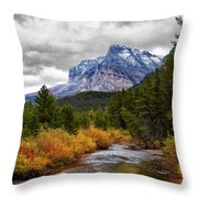 First Dusting Of Snow Throw Pillow