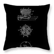 First Electric Motor 2 Patent Art 1837 Throw Pillow
