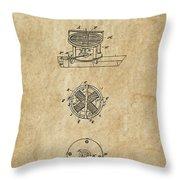 First Electric Motor 3 Patent Art 1837 Throw Pillow