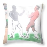 First Ever World Title Fight Cribb V Molineaux Throw Pillow