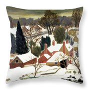 First Fall Throw Pillow by Eric Hains