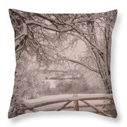 First Fall Of Snow Throw Pillow