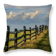 First Fence Throw Pillow