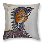 First Flight Preparations Throw Pillow