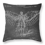 First Flying Machine Throw Pillow