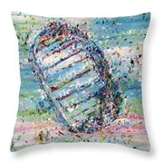 First Foot On The Moon Throw Pillow