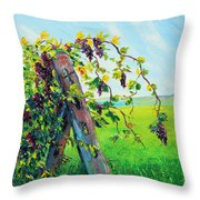 First Fruits Throw Pillow by Meaghan Troup