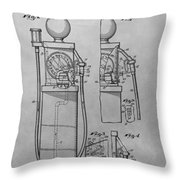 First Gas Pump Patent Drawing Throw Pillow