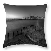 First Hint Of Sunlight In Black And White Throw Pillow