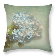 First Hydrangea - Texture Throw Pillow